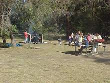 the picnic area at Gambell's Rest